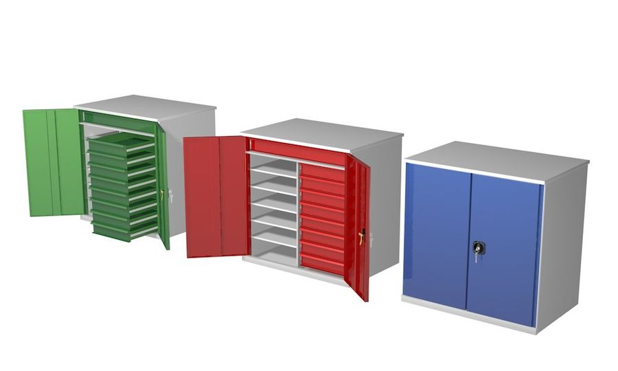 Kast 3 kleuren royalty-free 3d model - Preview no. 2