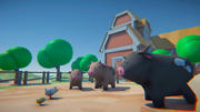 Çizgi film çiftlik hayvanları 3d model