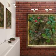 植物の壁。工場 3d model