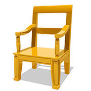 authentic cartoon chair 3d model