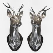 İki gümüş geyik 3d model