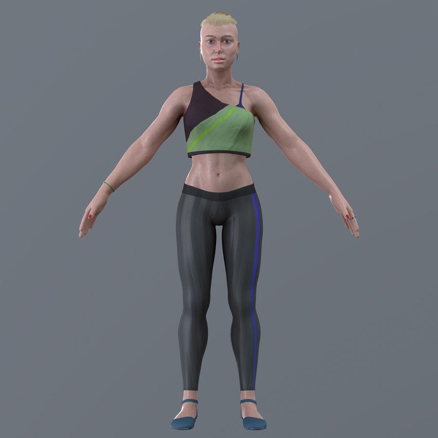 Genç kadın royalty-free 3d model - Preview no. 13