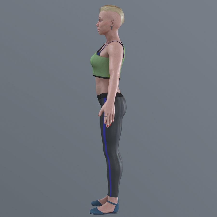 Genç kadın royalty-free 3d model - Preview no. 17