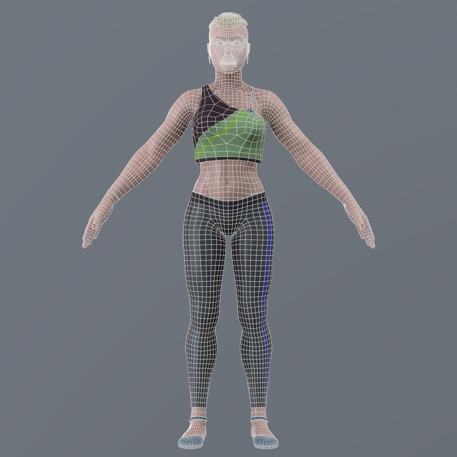 Genç kadın royalty-free 3d model - Preview no. 14