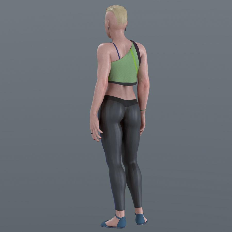 Genç kadın royalty-free 3d model - Preview no. 8