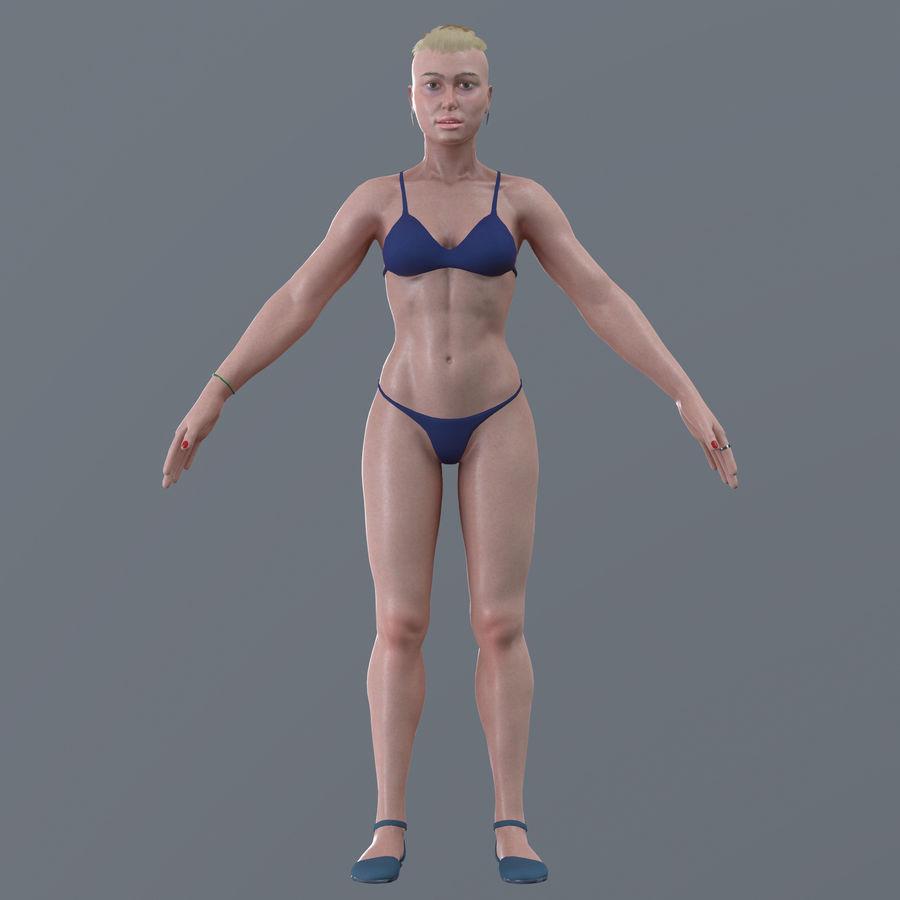 Genç kadın royalty-free 3d model - Preview no. 19