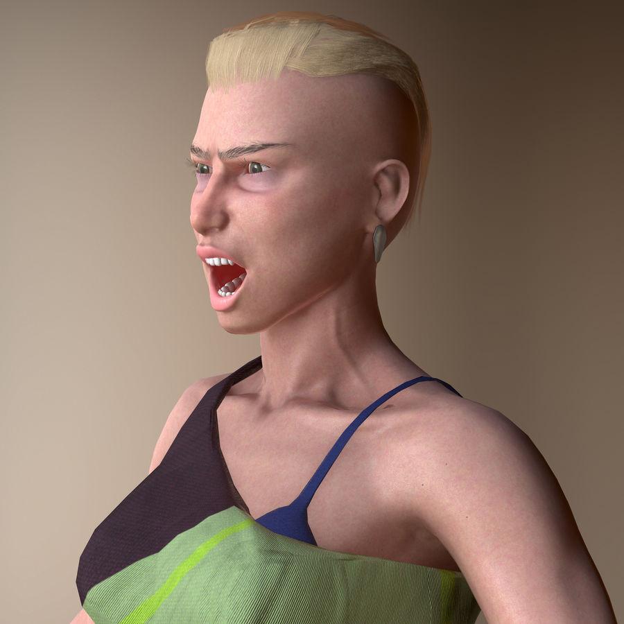 Genç kadın royalty-free 3d model - Preview no. 6