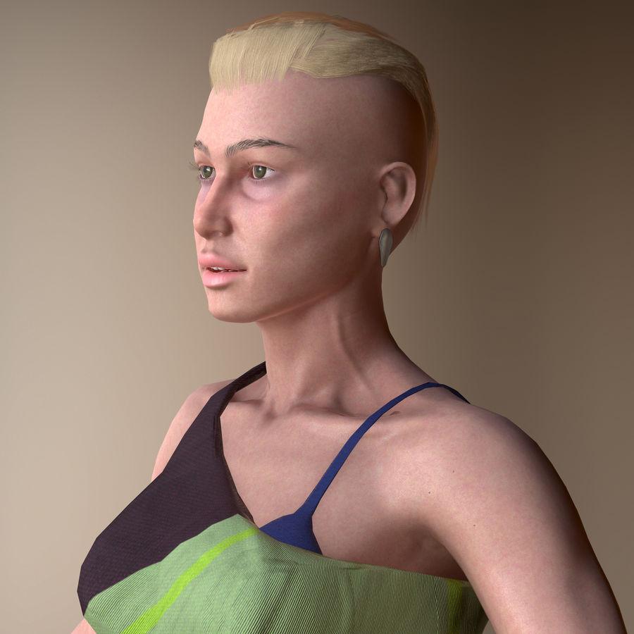 Genç kadın royalty-free 3d model - Preview no. 4