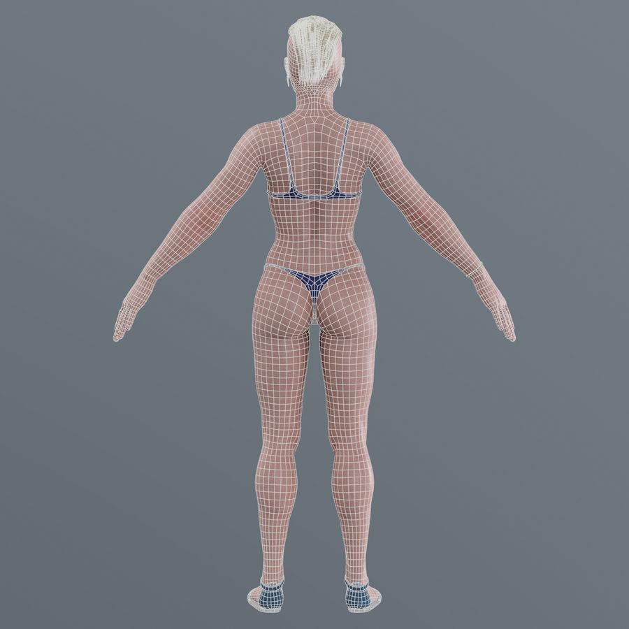 Genç kadın royalty-free 3d model - Preview no. 22