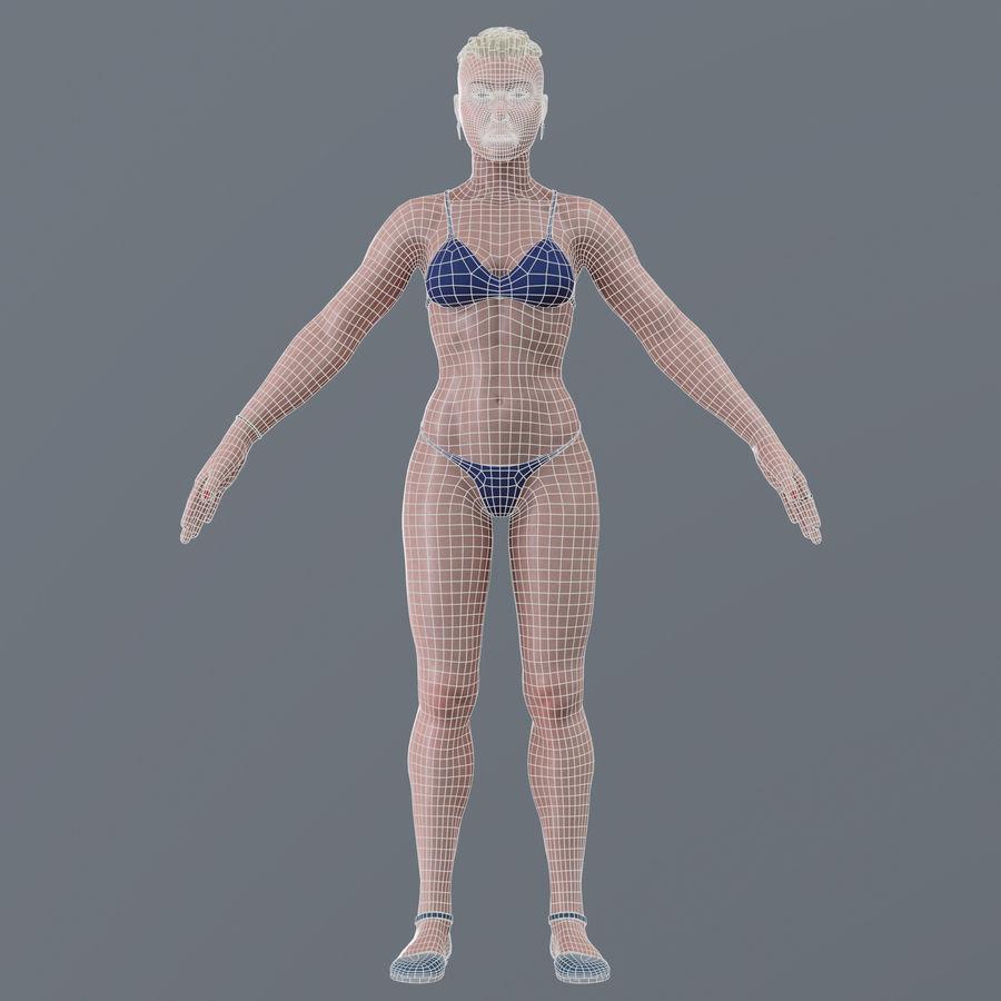 Genç kadın royalty-free 3d model - Preview no. 20