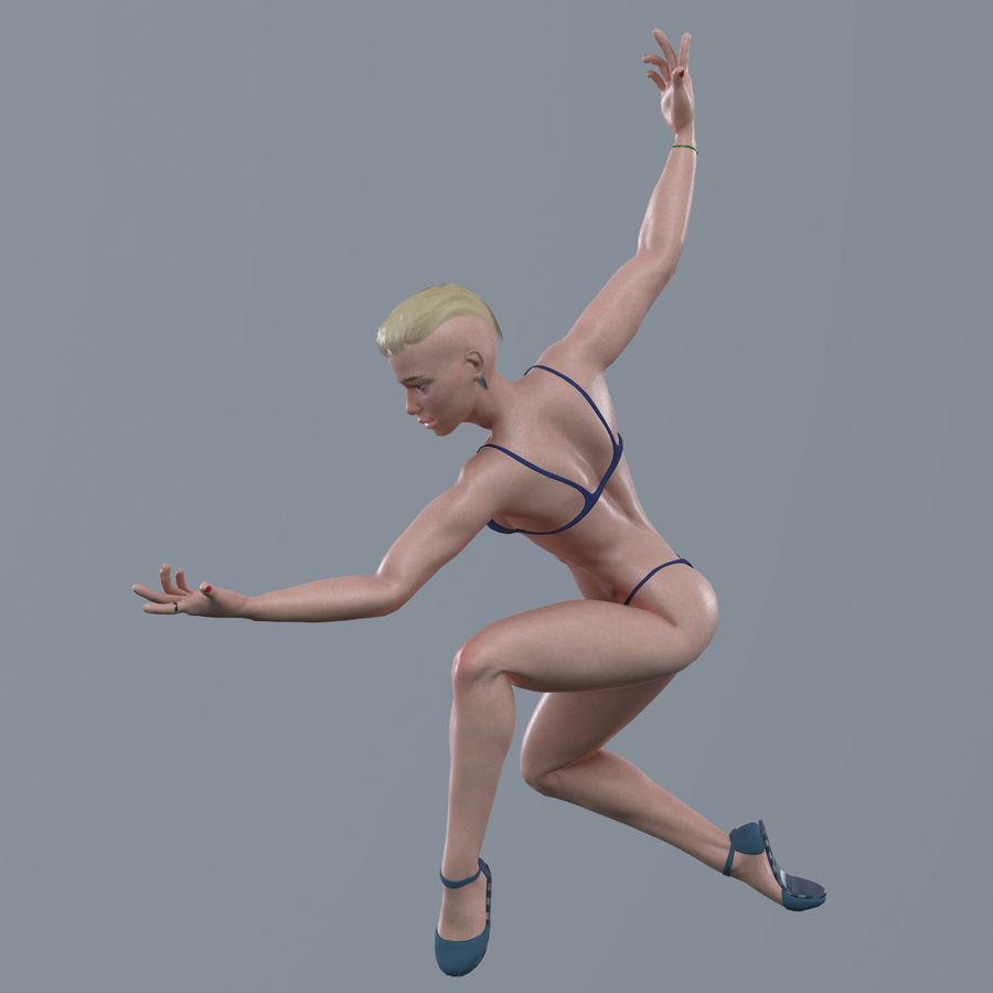 Genç kadın royalty-free 3d model - Preview no. 11