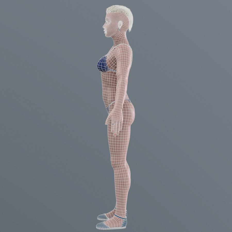 Genç kadın royalty-free 3d model - Preview no. 24
