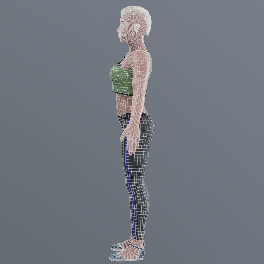 Genç kadın royalty-free 3d model - Preview no. 18