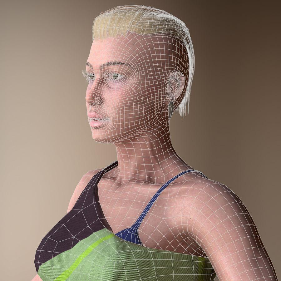 Genç kadın royalty-free 3d model - Preview no. 5