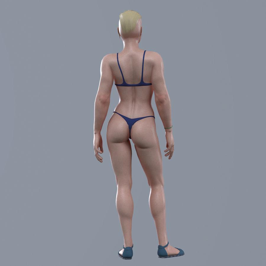 Genç kadın royalty-free 3d model - Preview no. 10