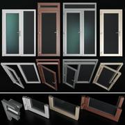 Aluminiowe drzwi wahadłowe 3d model