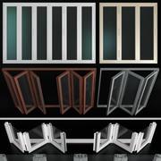 ステンドグラスのアルミニウムドアを折る 3d model