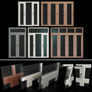 Färgade aluminiumdörrar 3d model