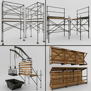 Scaffolding and structures 3d model