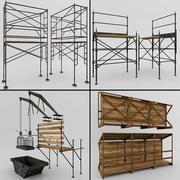 Échafaudages et structures 3d model