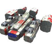 무거운 미사일 코르벳 3d model