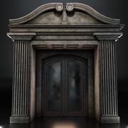 Modelo 3d da moldura da porta + porta 3d model