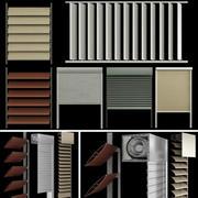 窓やドアのブラインドとシャッター 3d model