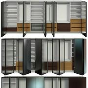 Armário, portas dobráveis 3d model