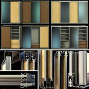 戸棚、ワードローブ、折れ戸 3d model