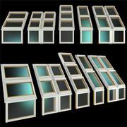 Ventanas de techo, claraboyas modelo 3d