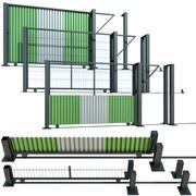 围墙,建筑滑动门 3d model