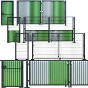 Portão de remo, portão para construção 3d model