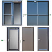 Metal fire doors 3d model
