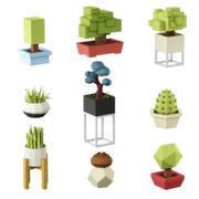 낮은 폴리 식물 3d model