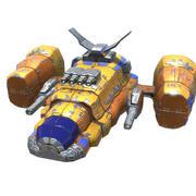 Тяжелый космический бой 3d model