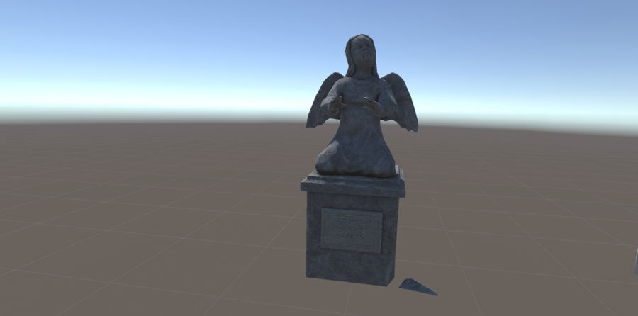 Statua anioła royalty-free 3d model - Preview no. 2