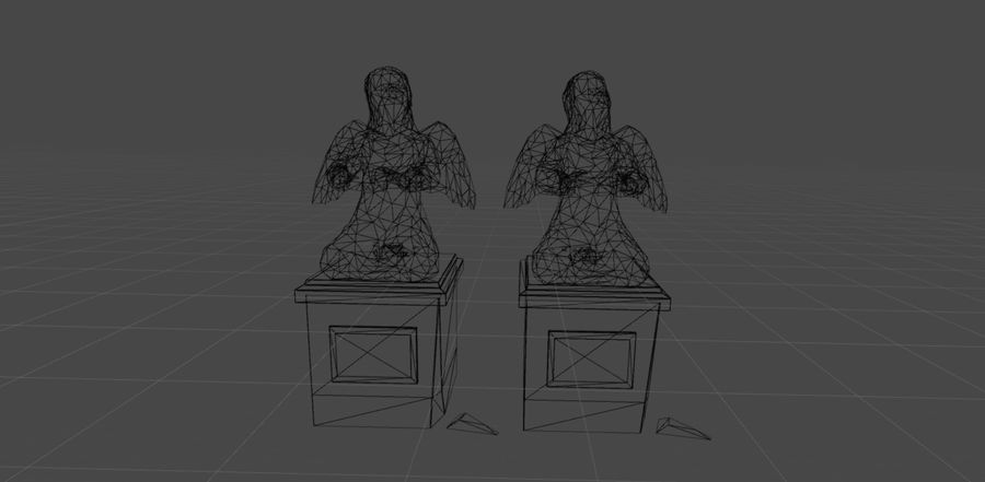 Statua anioła royalty-free 3d model - Preview no. 5