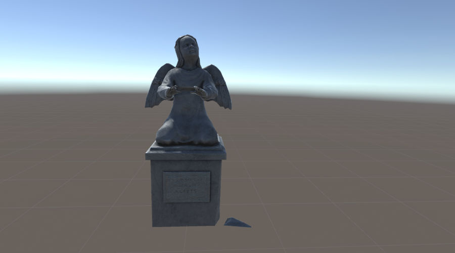 Statua anioła royalty-free 3d model - Preview no. 1