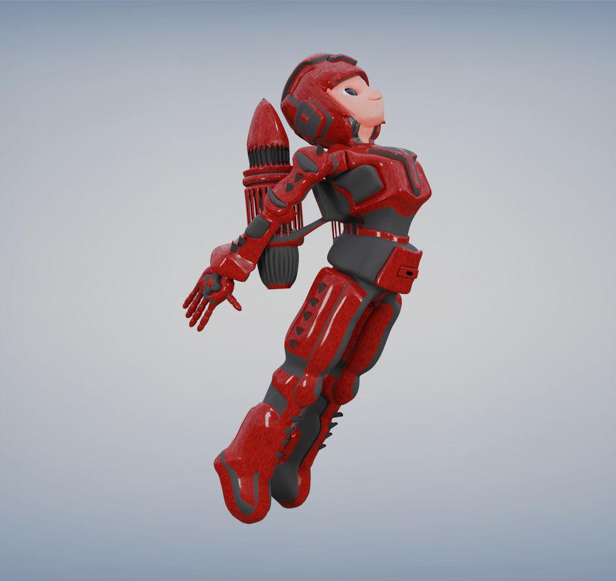 Космический робот мультипликационный персонаж royalty-free 3d model - Preview no. 4