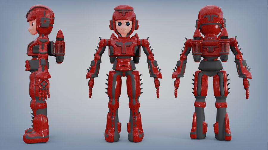 Космический робот мультипликационный персонаж royalty-free 3d model - Preview no. 2