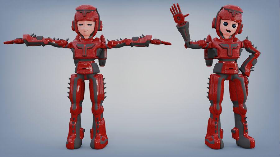 Космический робот мультипликационный персонаж royalty-free 3d model - Preview no. 3