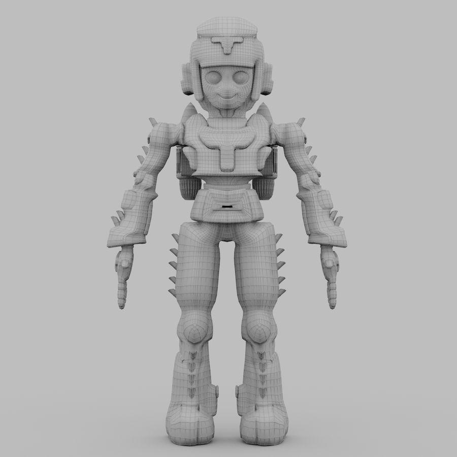 Космический робот мультипликационный персонаж royalty-free 3d model - Preview no. 8