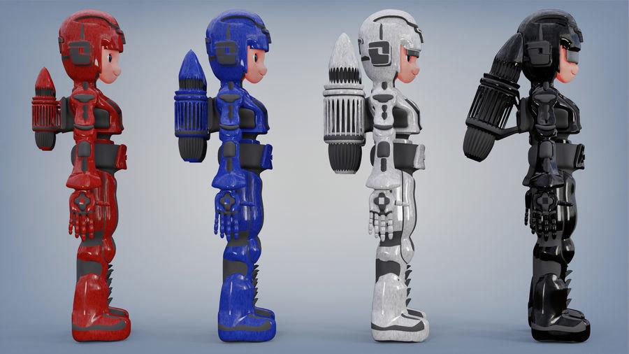 Космический робот мультипликационный персонаж royalty-free 3d model - Preview no. 5