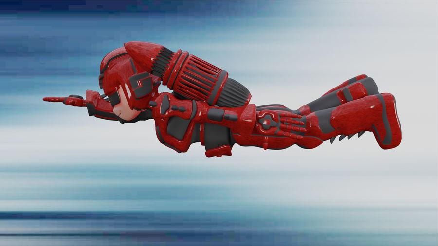 Космический робот мультипликационный персонаж royalty-free 3d model - Preview no. 1