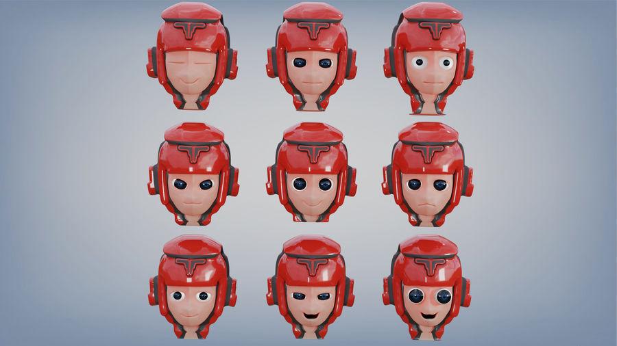 Космический робот мультипликационный персонаж royalty-free 3d model - Preview no. 6