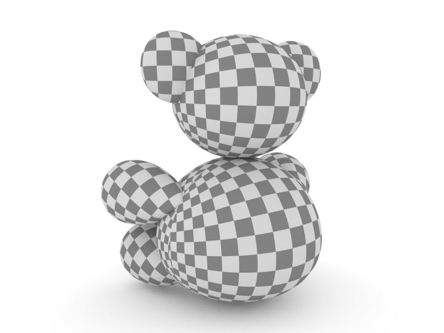 Doldurulmuş Ayı royalty-free 3d model - Preview no. 9