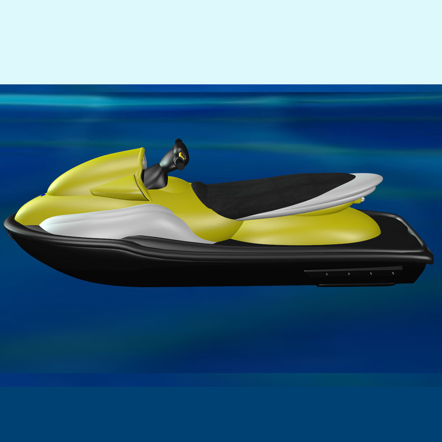 Personal Watercraft royalty-free 3d model - Preview no. 2