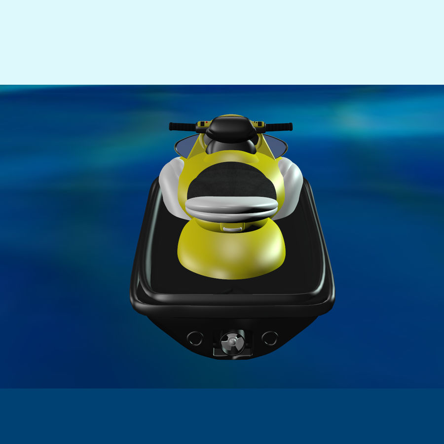 Personal Watercraft royalty-free 3d model - Preview no. 4