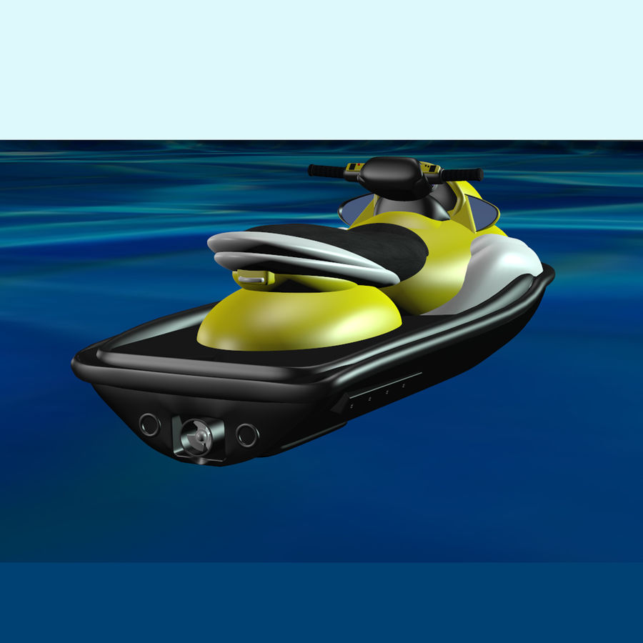 Personal Watercraft royalty-free 3d model - Preview no. 5