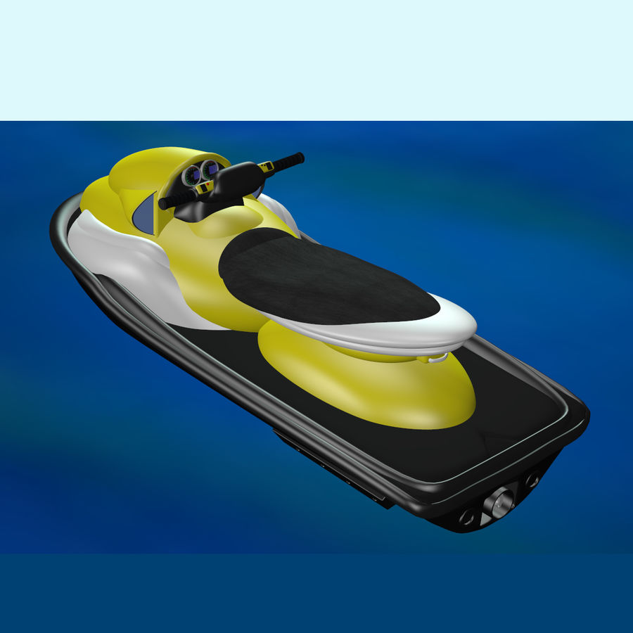Personal Watercraft royalty-free 3d model - Preview no. 3